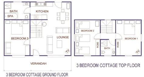 3 bedroom cottage floor plans 3 bedroom cottage house plans interior4you