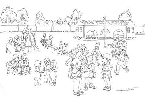 coloring pages school playground playground design sketch sketch coloring page
