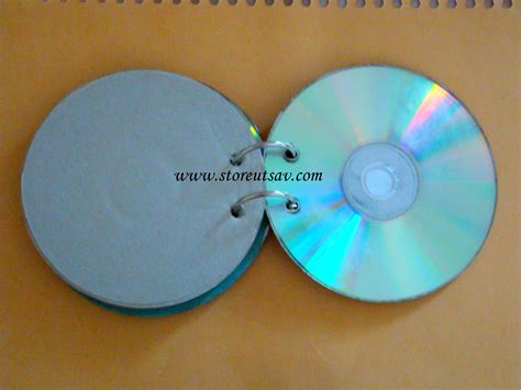 Handmade Cd - diary stationery by a handicapped child orange black