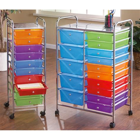 15 drawer organizer cart 15 drawer rolling storage cart 147852 housekeeping