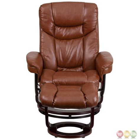 vintage brown leather ottoman brown vintage leather recliner ottoman w swiveling