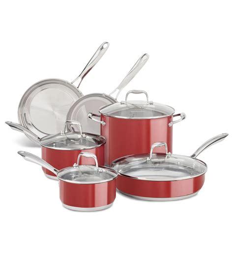 kitchenaid ustensiles cuisine batterie de cuisine kitchenaid de 10 pi 232 ces en acier