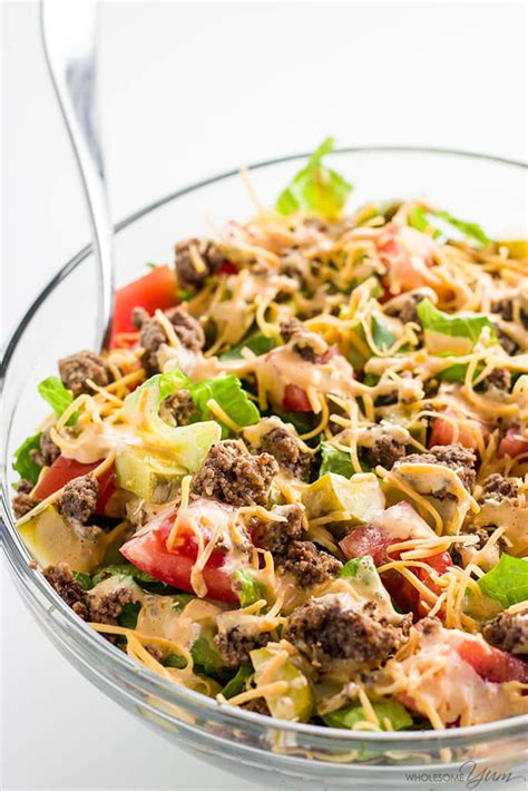 big salads 31 easy recipes for your healthy month books big mac salad recipe cheeseburger salad low carb