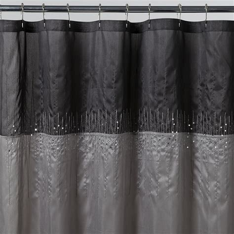 silver shower curtain essential home disco silver fabric shower curtain
