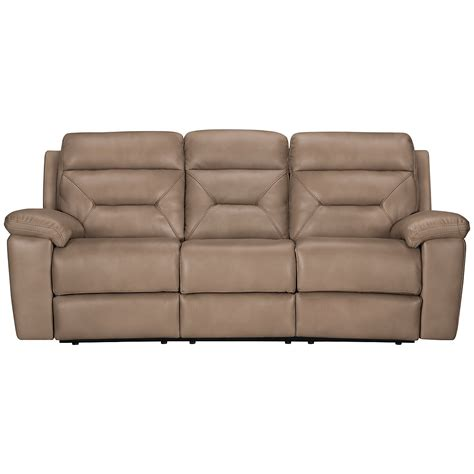 Microfiber Reclining Sectional Sofa City Furniture Dk Beige Microfiber Reclining Sofa