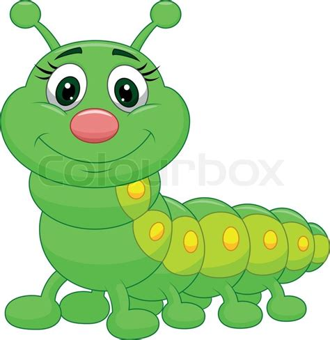 caterpillar clipart vector illustration of green caterpillar