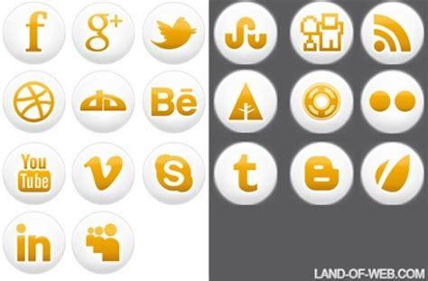 orange si鑒e social 20 orange social media icons set png welovesolo