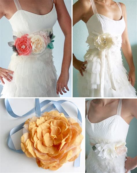 flower belts sashes for your wedding