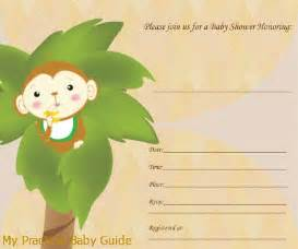 free printable monkey baby shower invitations theruntime