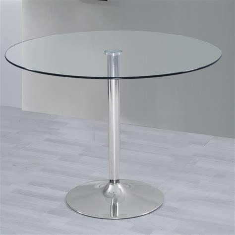 mesas de cocina redondas de cristal mesa de salon comedor cocina redonda de cristal y base de