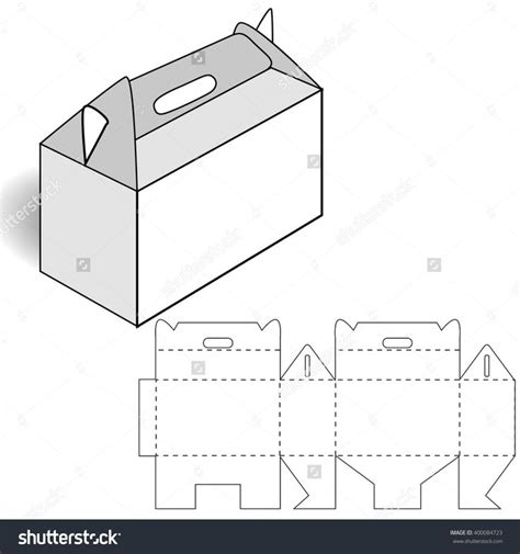 handle box template 676 best images about template on paper shoes