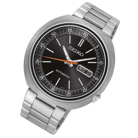 Jam Tangan Pria Seiko 5 Snzj33k1 Silver Black seiko recraft srpc11k1 automatic black silver jam