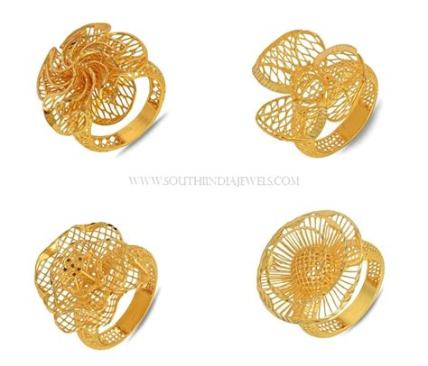 Gold Rings Design by Gold Ring Designs For South India Jewels