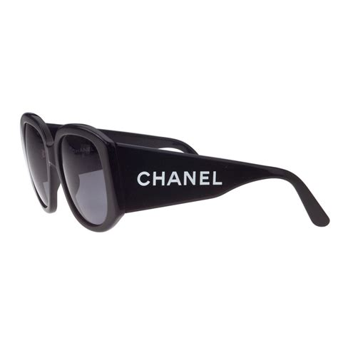 Sunglass Chanel 2 vintage chanel black quot chanel quot logo sunglasses