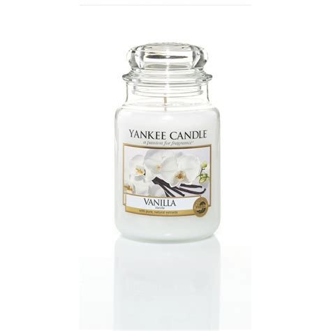 yankee candel essence vanilla yankee candle bougies jarres