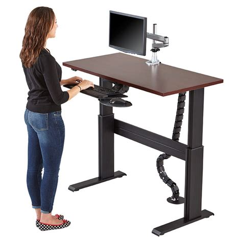 electric sit stand desk electric sit stand workstation sit to stand workstation