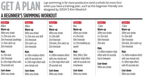printable workout plan for beginners swimmers workout plan for beginners healthy living