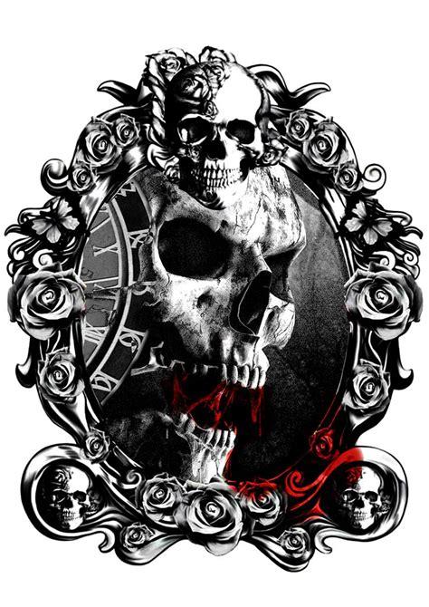 skulls amp illusion tus pinterest kranier
