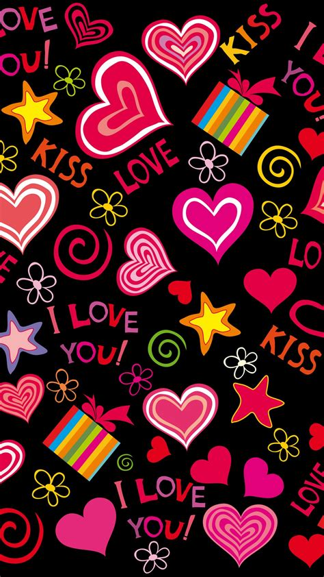 wallpaper for iphone 6 love colorful love hearts sweet vector romantic iphone