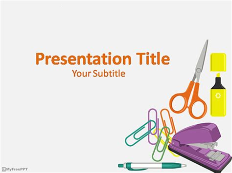 office template powerpoint free stationery powerpoint templates myfreeppt