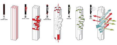 Cluster House Plans Ole Scheeren Reveals Irregularly Stacked Vancouver Skyscraper