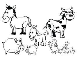Farm Animals Cut Outs