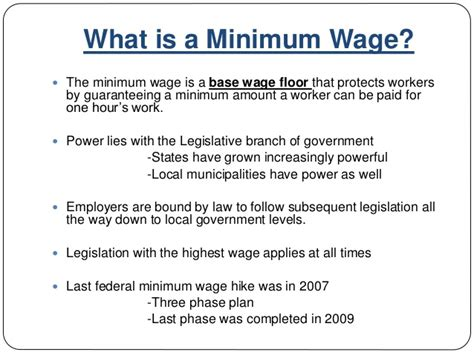 Define Mba Candidate by Mba 592 Presentation An Analysis Of The Federal Minimum Wage