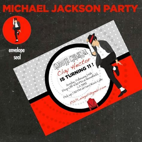 printable michael jackson birthday cards michael jackson invitation idea michael jackson birthday