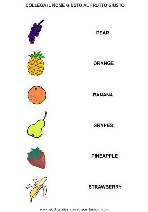 parole di 5 lettere fruits g giochi enigmistici per bambini in inglese