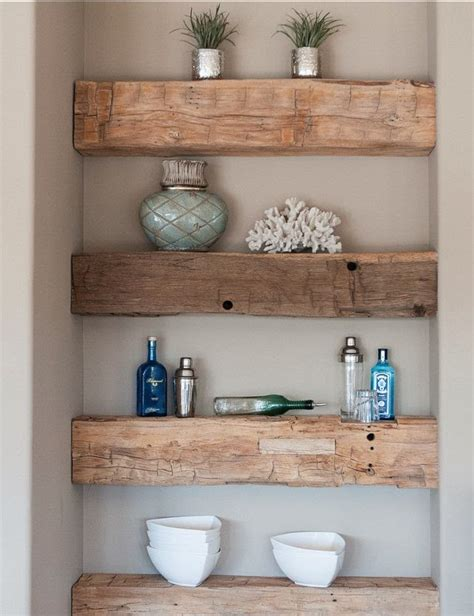 my sweet rustic wood shelving