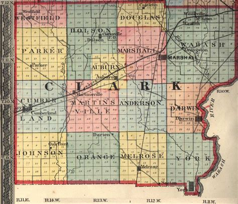 clark county section 8 townships towns maps clark county il