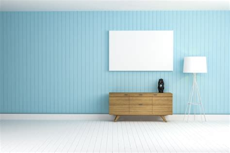 light blue walls and brown wooden doors 3d house free blue wall with a brown furniture photo free download