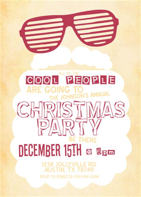 party invitations cool santa at minted com