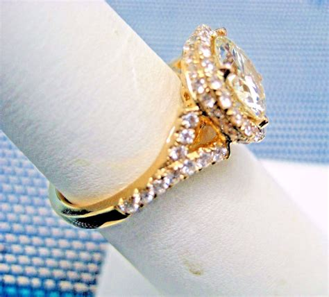 halo engagement ring 2 97ct micro pave