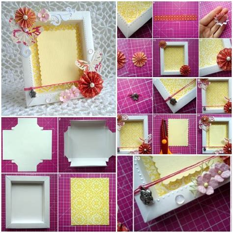 How To Make Photo Frame With Handmade Paper - diy cardboard picture frame