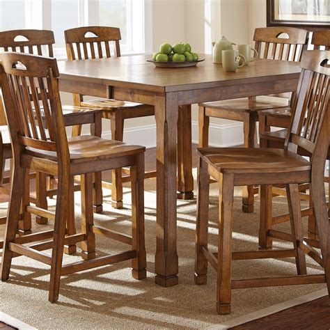 oak counter height table steve silver menton counter height dining table medium