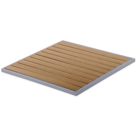Patio Table Top Aluminum Patio Table Top With Plastic Teak Slats