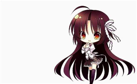 anime girl brown hair wallpaper anime girl cute chibi images hd wallpaper important