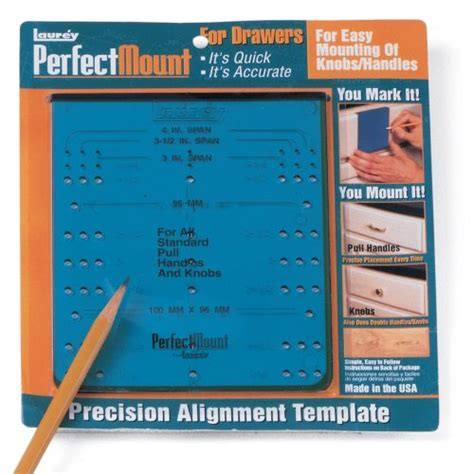 alignment template for hardware laurey 98101 perfect mount precision alignment template