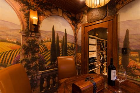 Tuscan Inspired Home Decor by Tuscan Style Tasting Amp Wine Rooms Traditional Wine
