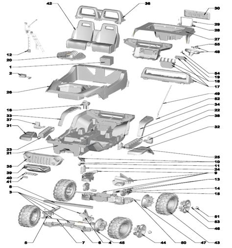 Jeep Parts List Power Wheels Jeep Hurricane Rust Parts