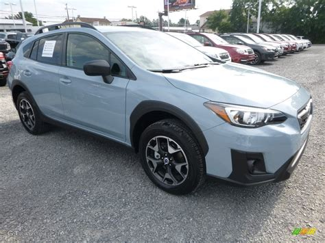 subaru crosstrek grey 2018 cool gray khaki subaru crosstrek 2 0i 122391094