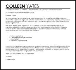 Personnel Recruiter Cover Letter by Letter To College Recruiter