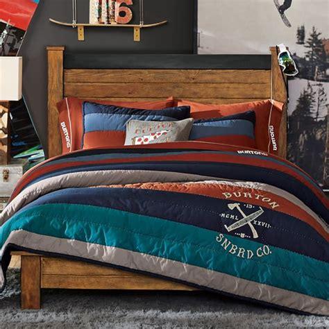 burton bedding burton classic stripes quilt sham pbteen