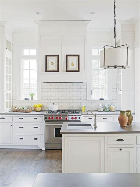 white tile kitchen chic white kitchens for 2014