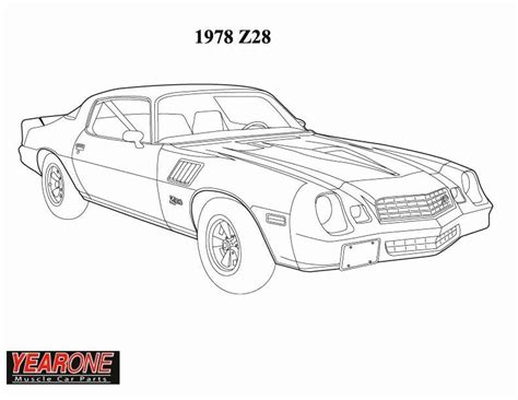 Chevy Camaro Pages Coloring Pages Camaro Coloring Page