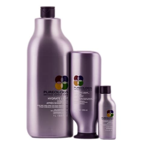 pureology hydrate light conditioner pureology hydrate light condition dry fine sleekshop