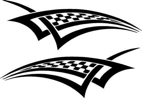 Neues Auto Kennzeichen Behalten by Motorcycle Racing Checkered Graphics Vinyl Car Decals 20