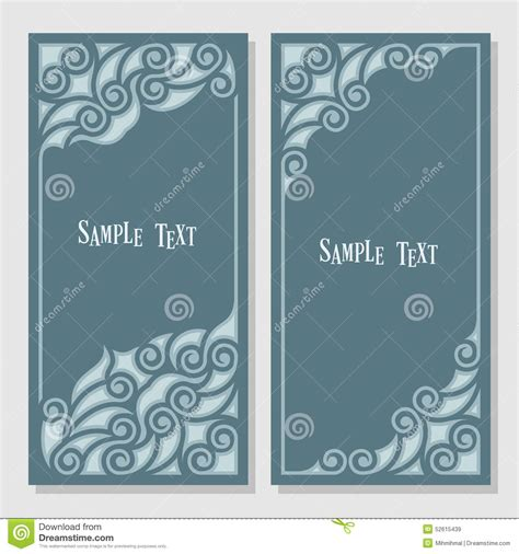 Decorative Text by Decorative Frame For Text Stock Vector Image 52615439