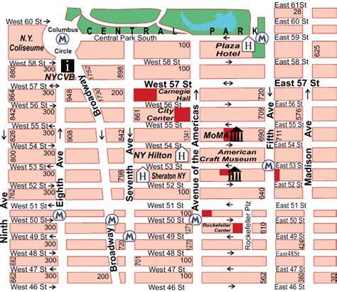 streetsmart nyc midtown manhattan map by vandam laminated pocket sized city map with all attractions museums broadway theaters hotels and subway map 2017 edition books midtown manhattan map my